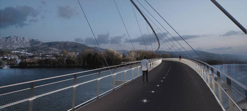 Puente peatonal sobre el Miño