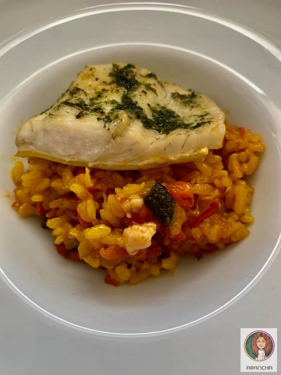 arroz con rodaballo