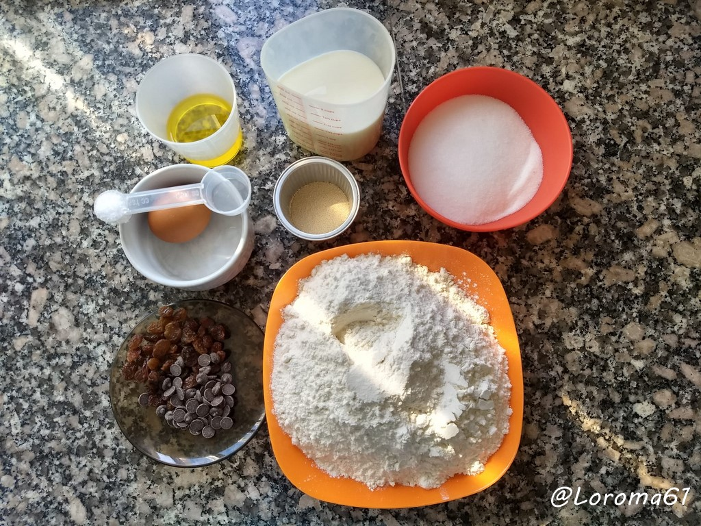 Pan nevado ingredientes