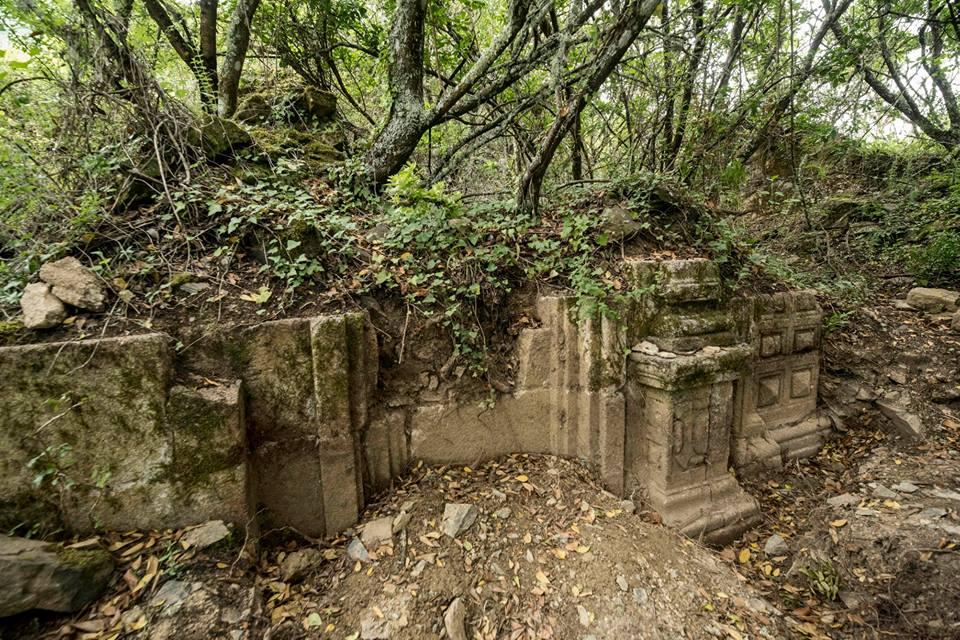 Ruinas de la capilla, iglesia de O Santo