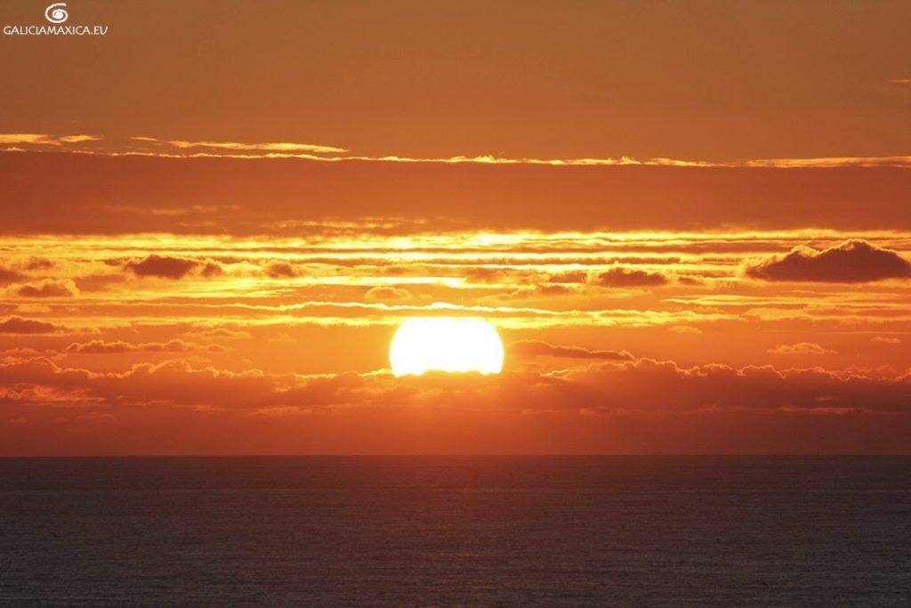 Puesta del sol en el fin del mundo