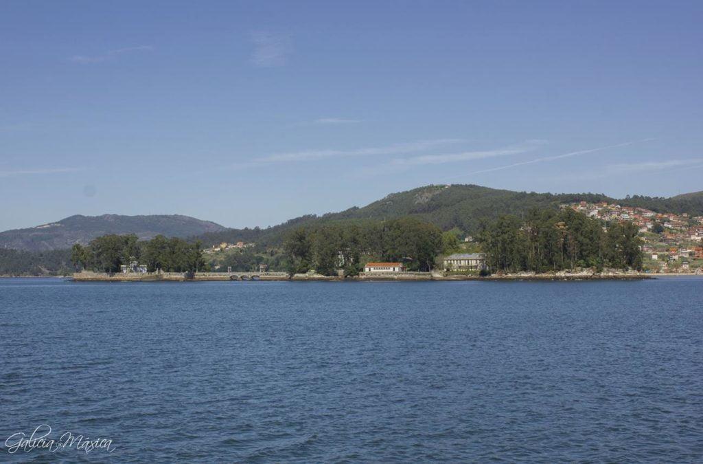 Vista de las islas San Simón y San Antón