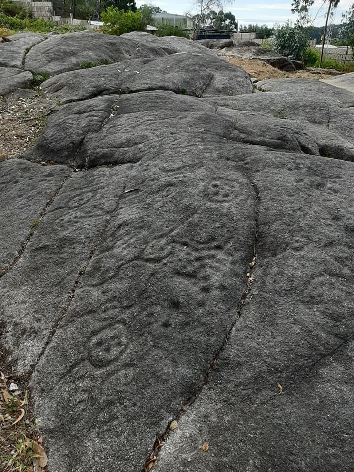 Petroglifos de Abelaires en Cangas