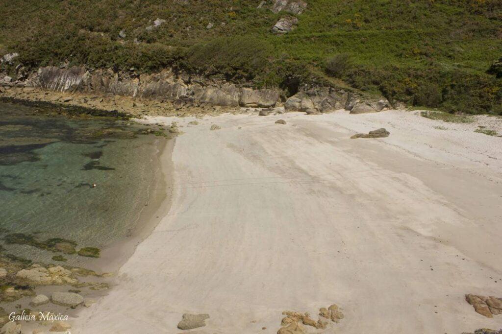 Playa de A Barda desde lo alto